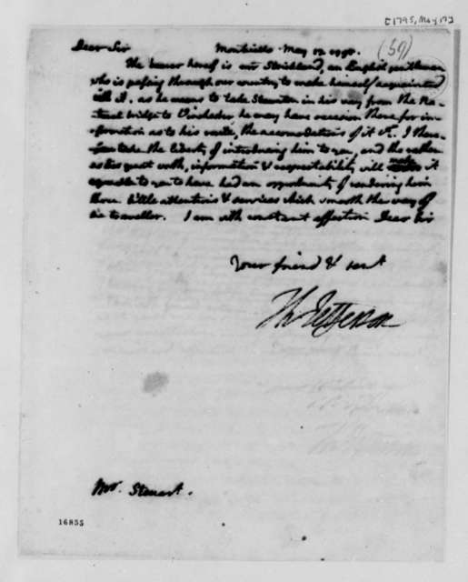 Thomas Jefferson to Archibald Stuart, May 17, 1795