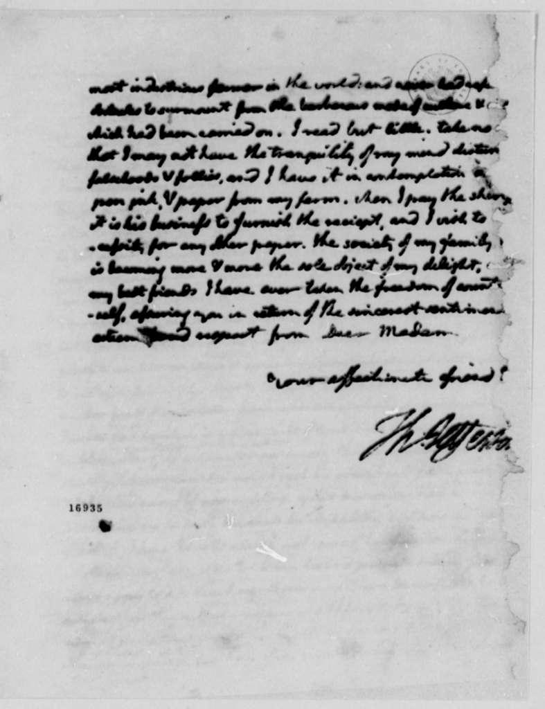 Thomas Jefferson to Eliza House Trist, September 23, 1795