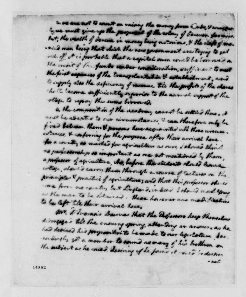 Thomas Jefferson to George Washington, February 23, 1795