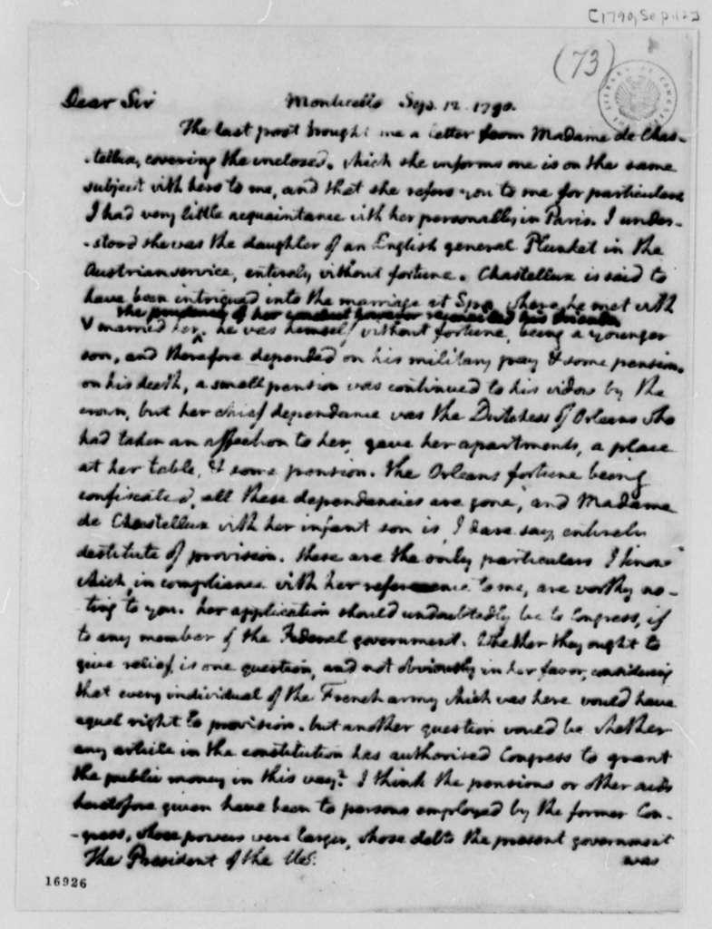 Thomas Jefferson to George Washington, September 12, 1795