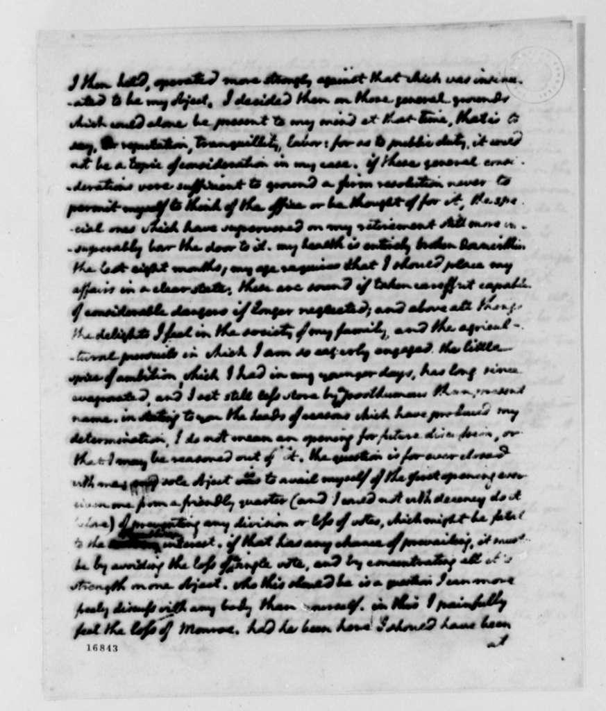 Thomas Jefferson to James Madison, April 27, 1795
