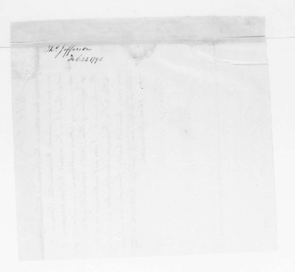 Thomas Jefferson to James Madison, February 23, 1795.