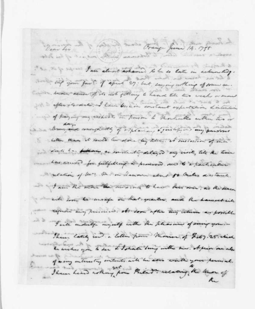 Thomas Jefferson to James Madison, June 14, 1795.