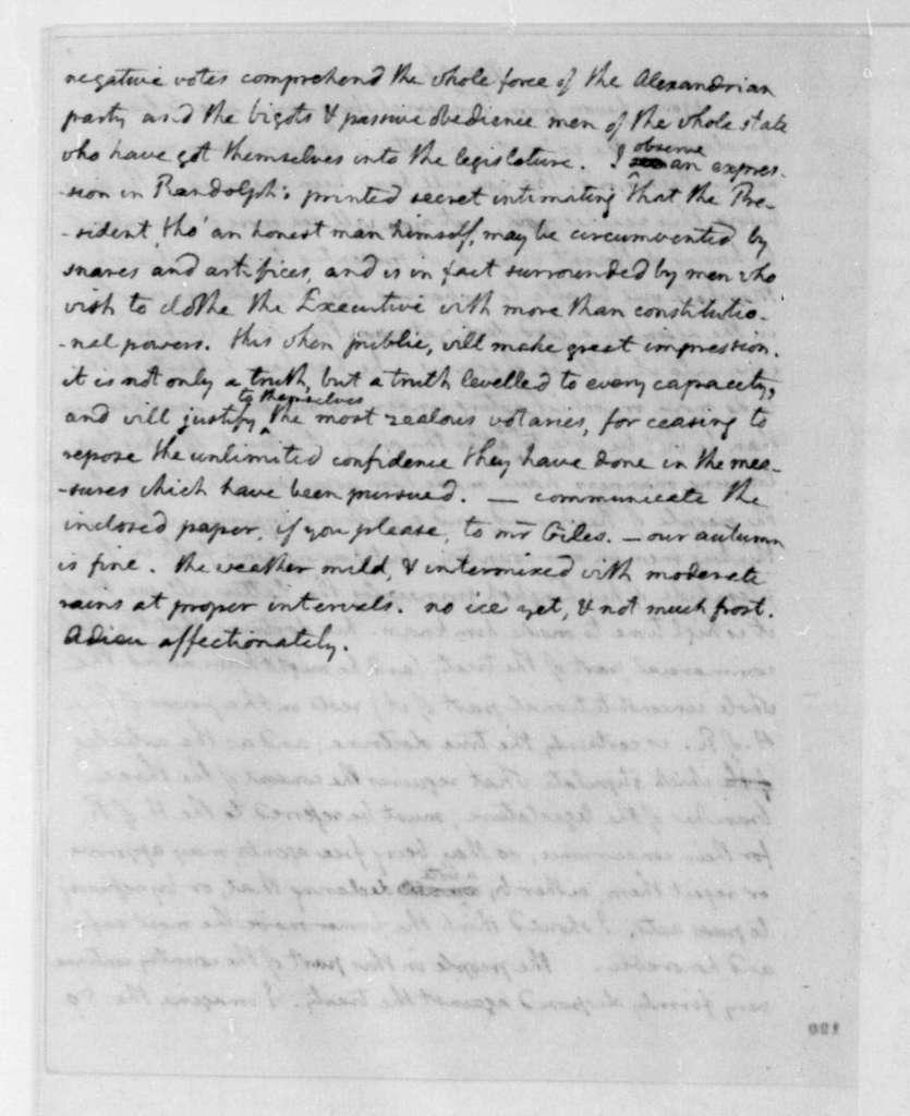 Thomas Jefferson to James Madison, November 26, 1795.