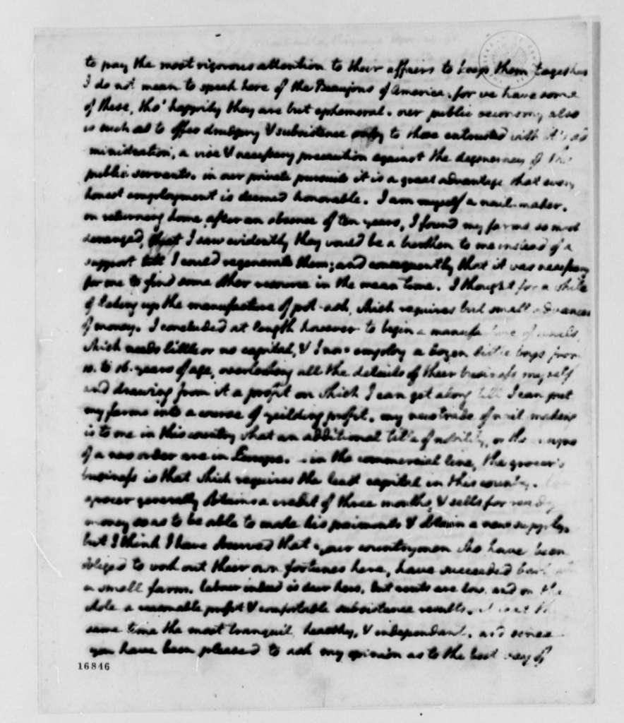 Thomas Jefferson to Jean Nicolas Demeunier, April 29, 1795