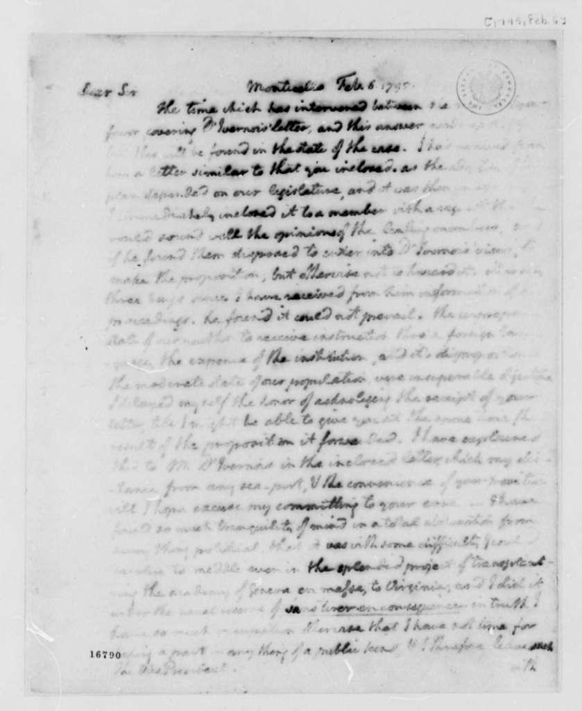 Thomas Jefferson to John Adams, February 1, 1795