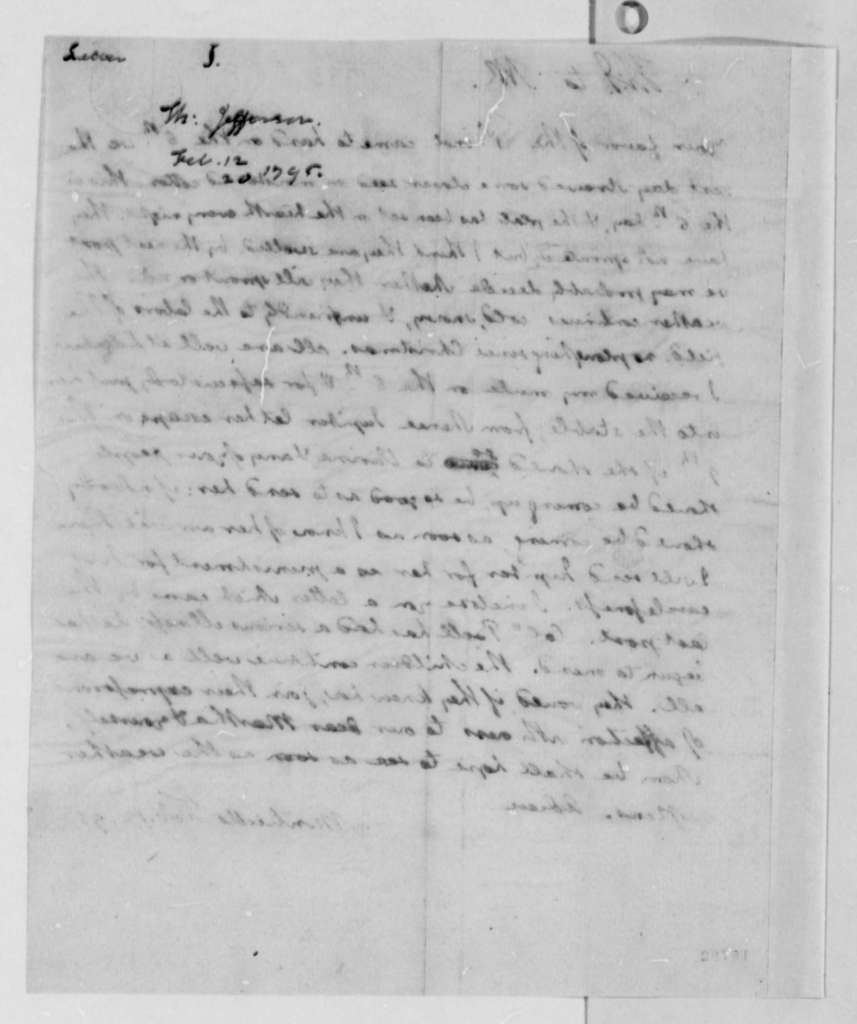 Thomas Jefferson to Thomas Mann Randolph, Jr., February 12, 1795