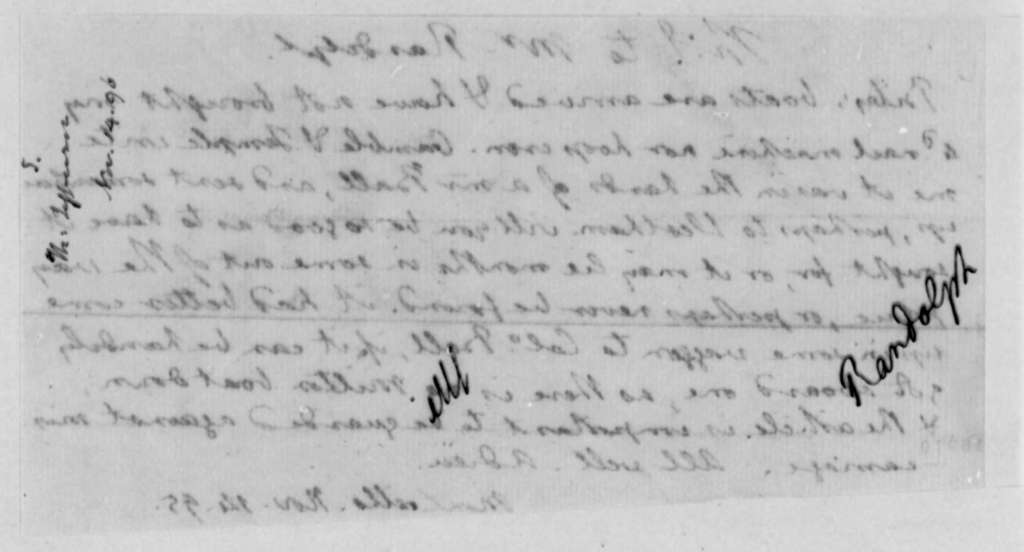 Thomas Jefferson to Thomas Mann Randolph, Jr., November 14, 1795
