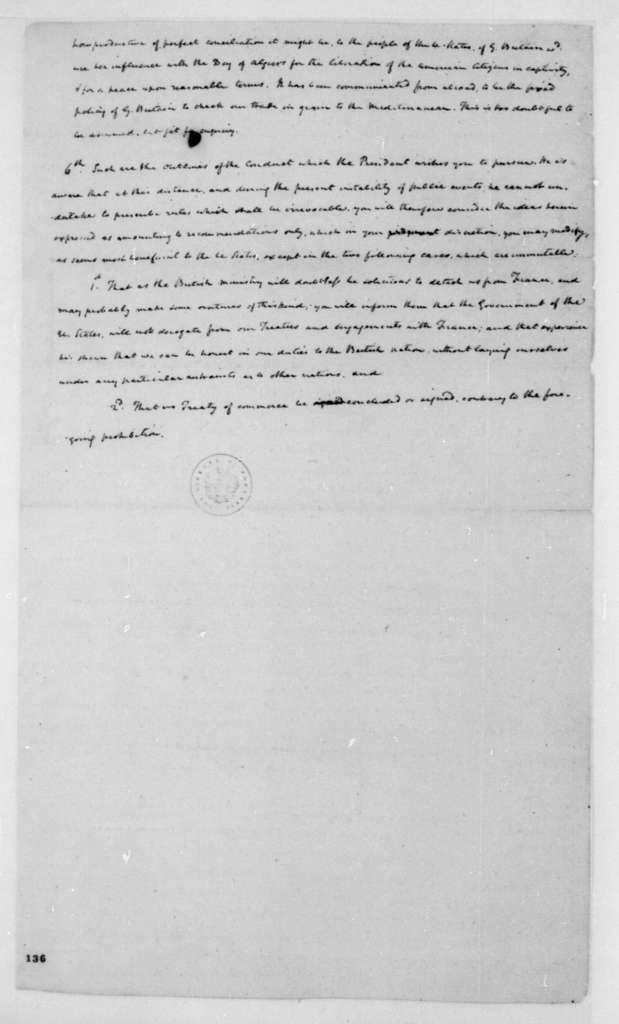 United States Senate to John Jay, June, 1795. Instructions to John Jay from the United States Senate.