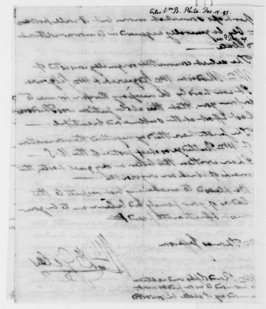 William Branch Giles to Thomas Jefferson, December 15, 1795