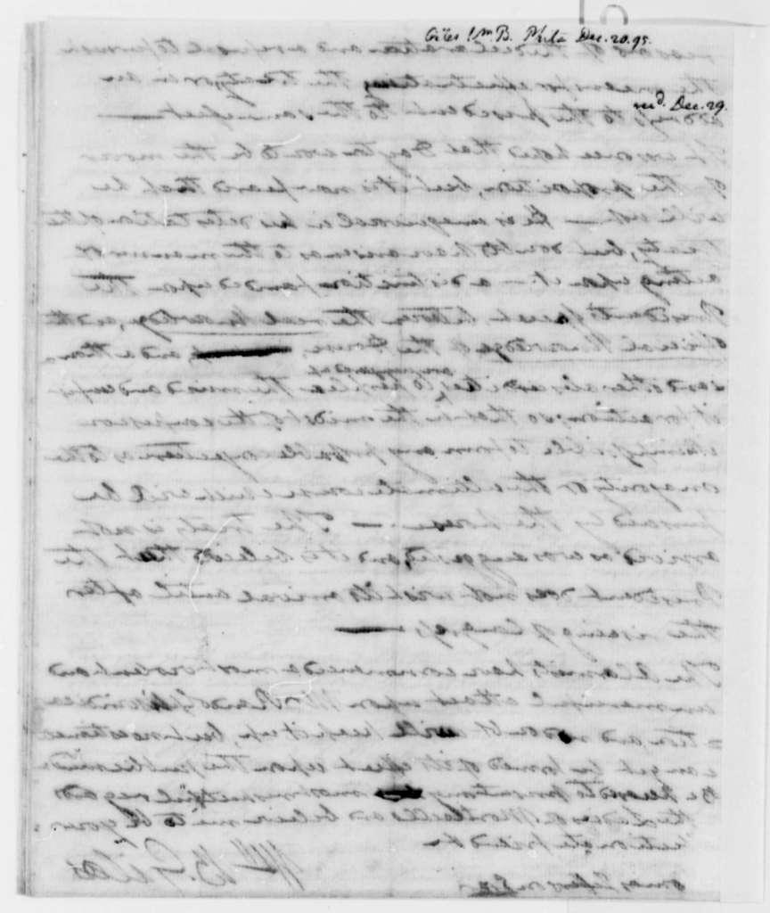 William Branch Giles to Thomas Jefferson, December 20, 1795