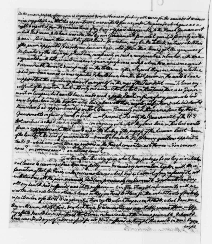 William Short to Thomas Jefferson, January 29, 1795