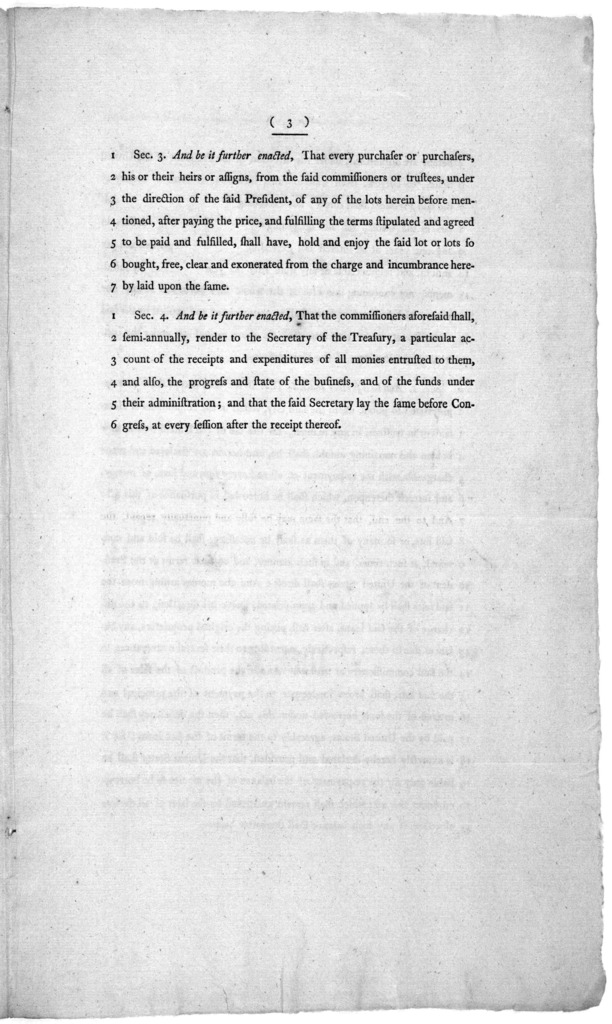 11th March, 1796. Committted to a committee of the whole house, on Monday next. Report of the Committee, to whom, was re-committed the bill authorizing a loan for the use of the city of Washington, in the district of Columbia ... A bill authoriz