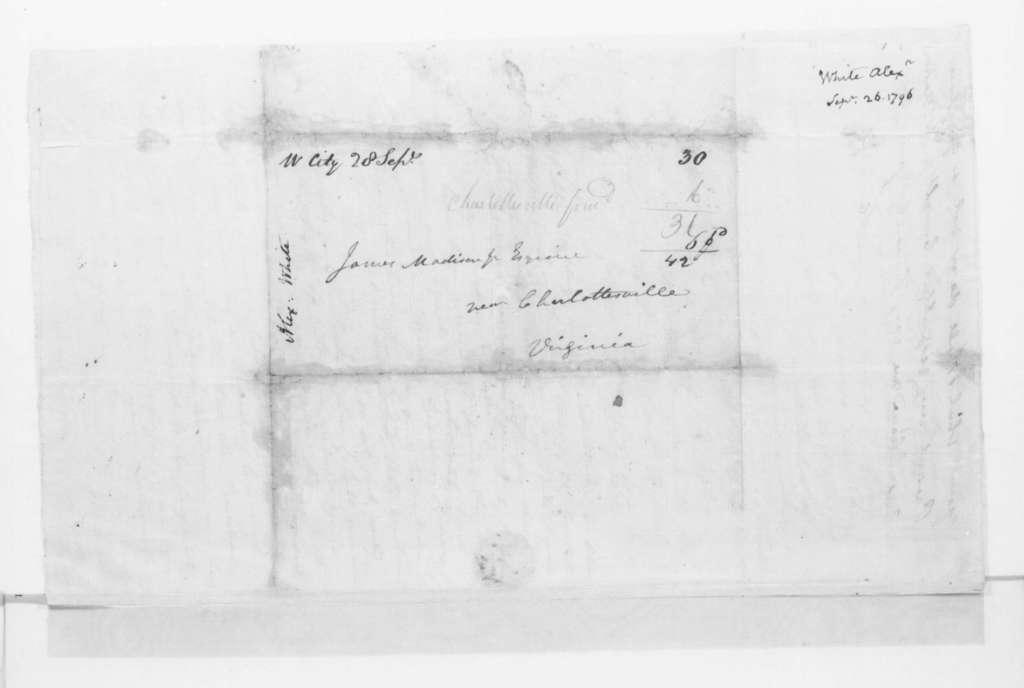 Alexander White to James Madison, September 26, 1796.