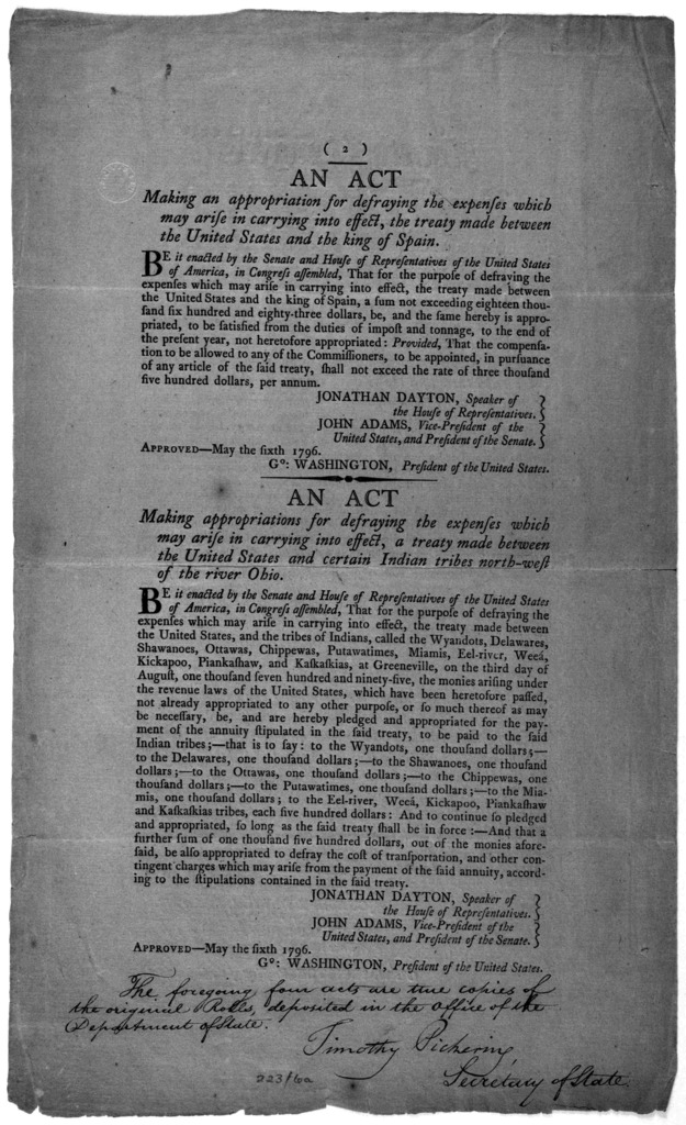 ... An act making an appropriation towards defraying the expenses which may arise in carrying into effect, the treaty of amity, commerce and navigation made between the United States and the king of Great-Britain. [Followed by] An act making an