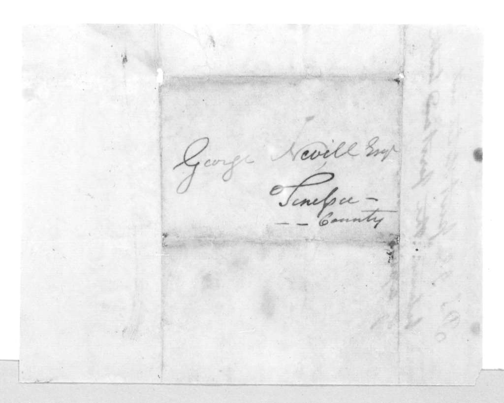 Andrew Jackson to George Neville, March 17, 1796