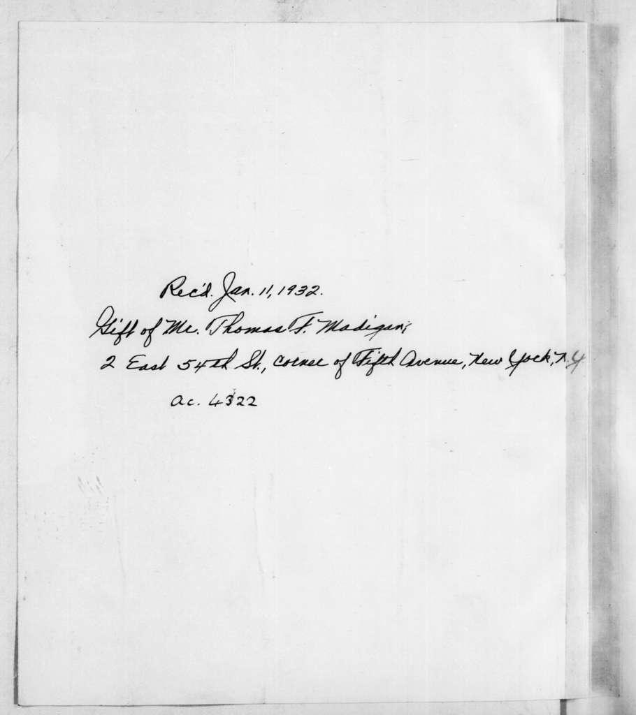 Andrew Jackson to Robert Hays, December 6, 1796