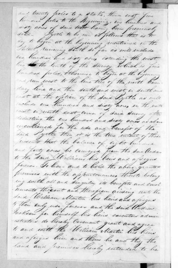 Andrew Jackson to William Martin, October 5, 1796