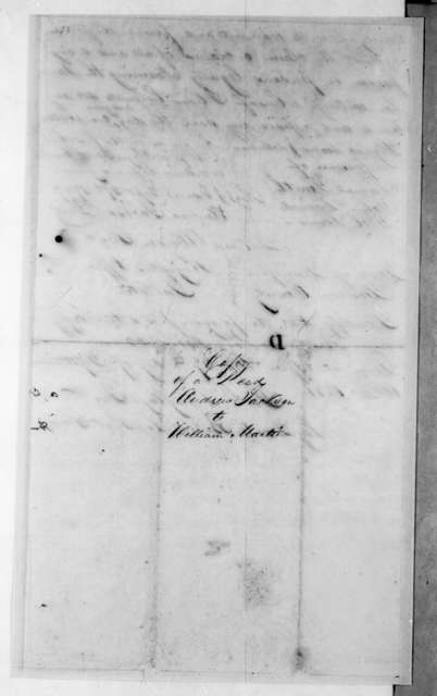 Andrew Jackson to William Martin, October 5, 1796