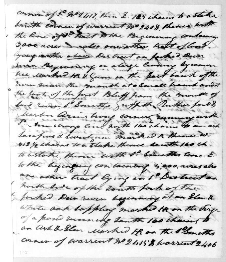 B. Smith to S. Mitchell, March 9, 1796