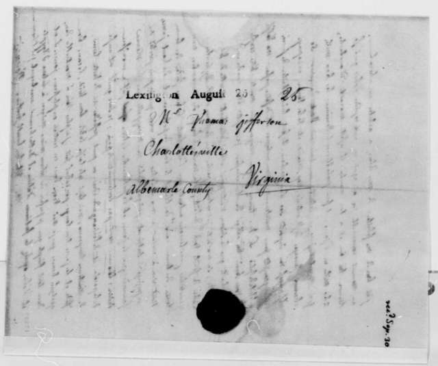 Count de Volney to Thomas Jefferson, August 24, 1796