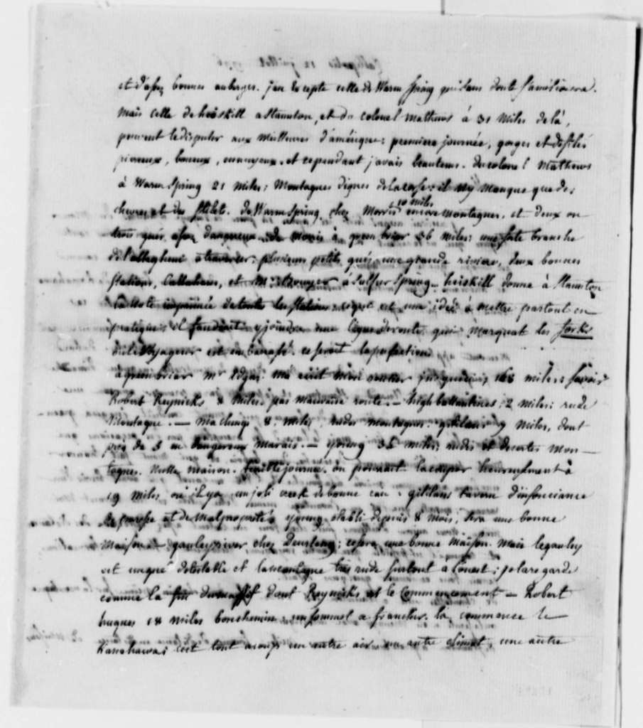 Count de Volney to Thomas Jefferson, July 12, 1796, in French