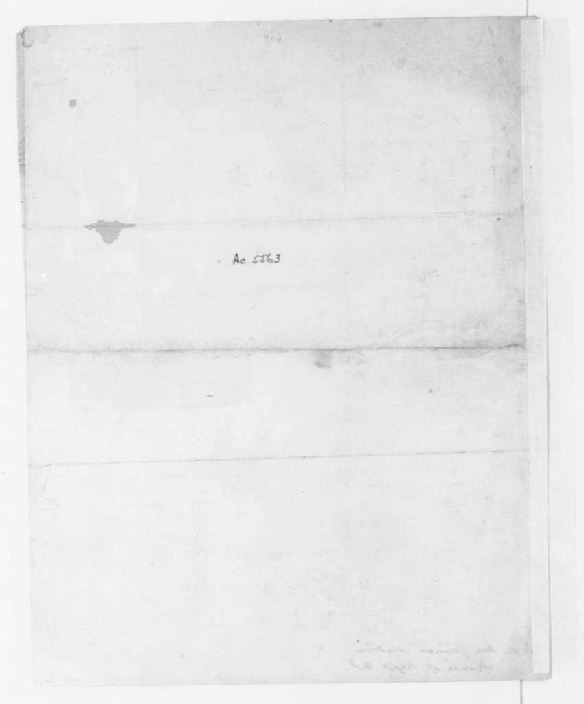 Edmund Randolph to James Madison, August 19, 1796. Introduces Edwin Burwell.