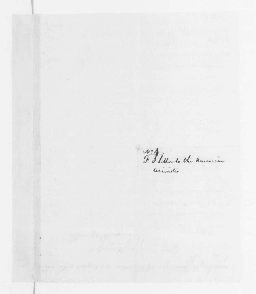 Fulwar Skipwith to James Monroe, July 21, 1796.