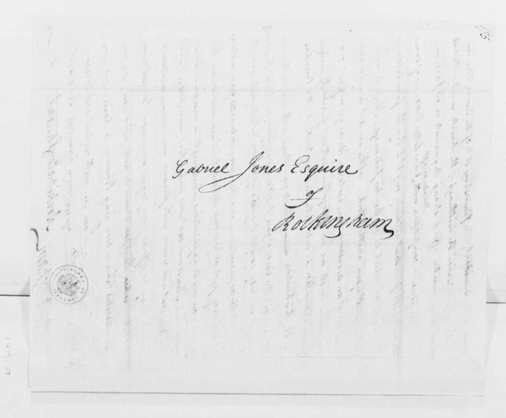 George Washington Papers, Series 4, General Correspondence: Archibald Stuart to Gabriel Jones, January 28, 1796