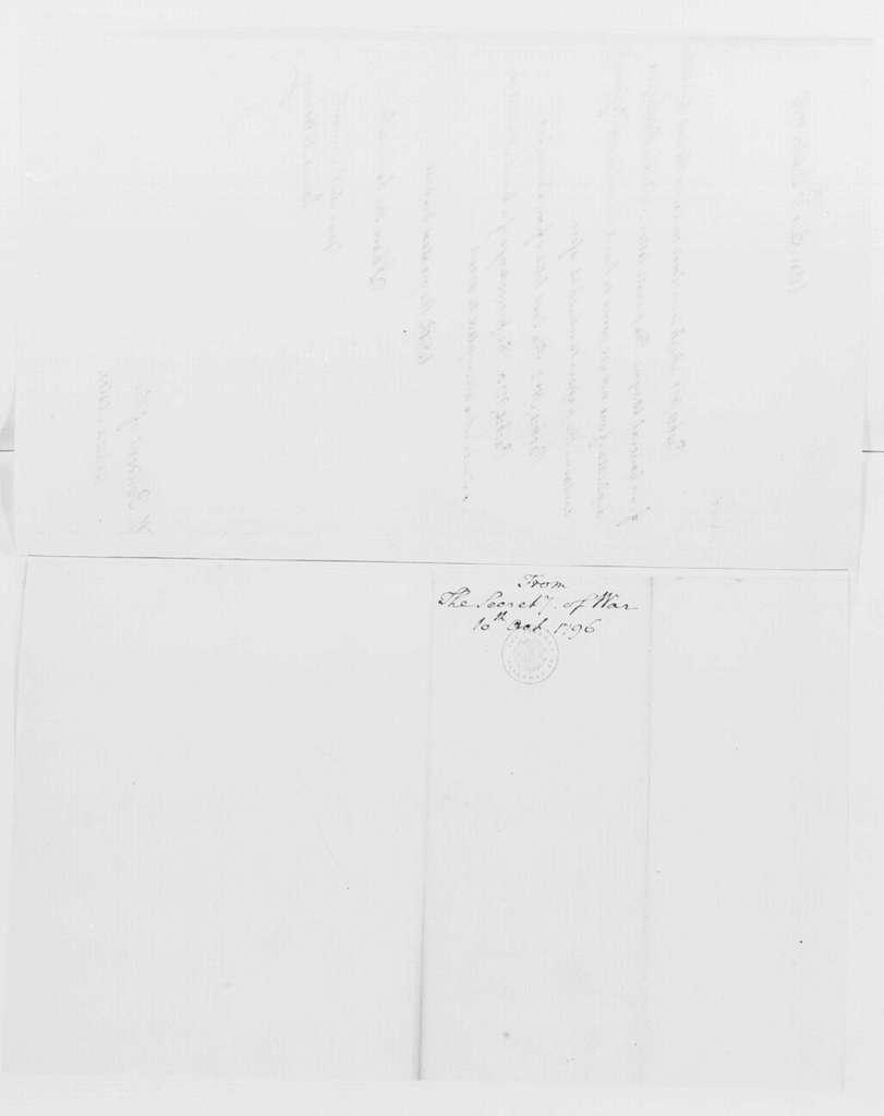George Washington Papers, Series 4, General Correspondence: James McHenry to George Washington, October 10, 1796