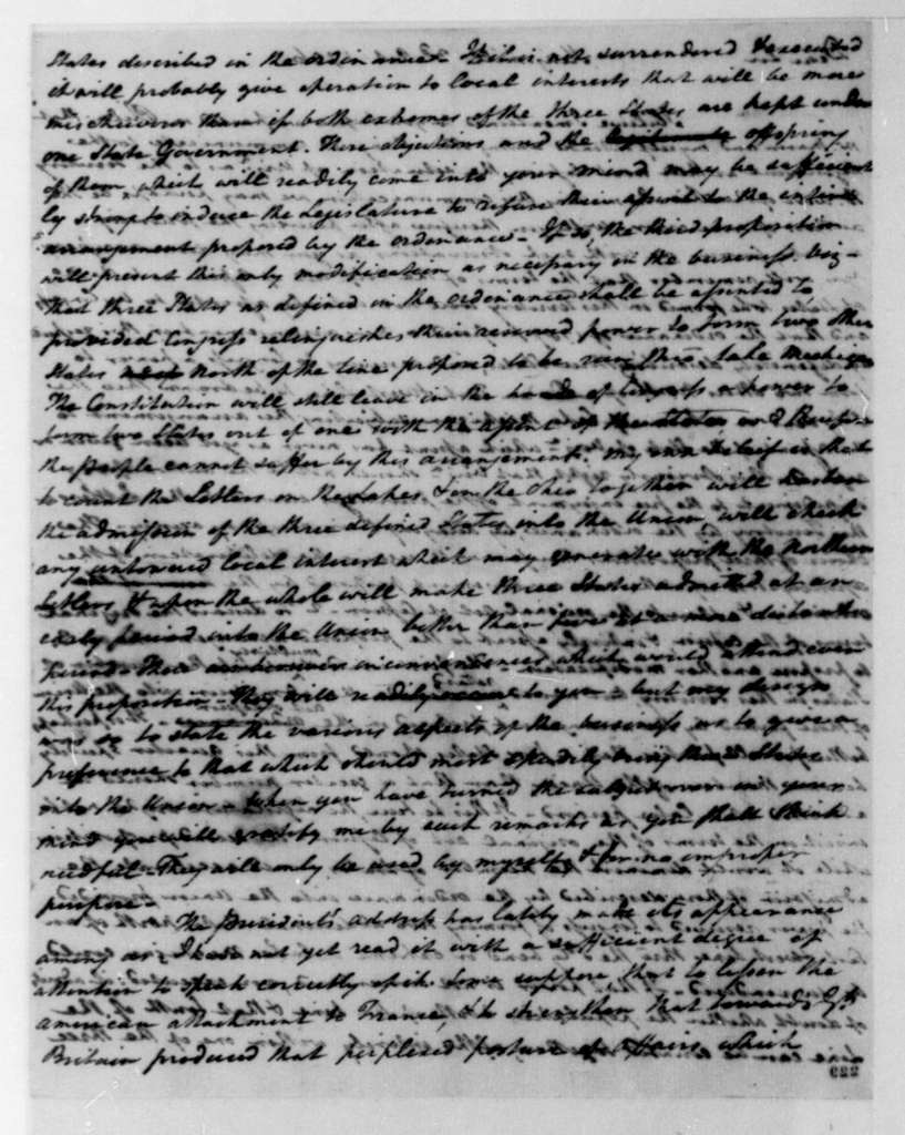 Henry Tazewell to James Madison, October 3, 1796.