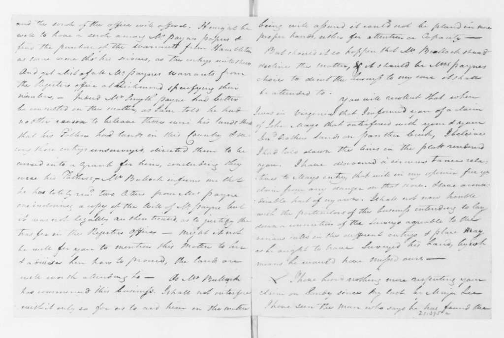Hubbard Taylor to James Madison, March 01, 1796.