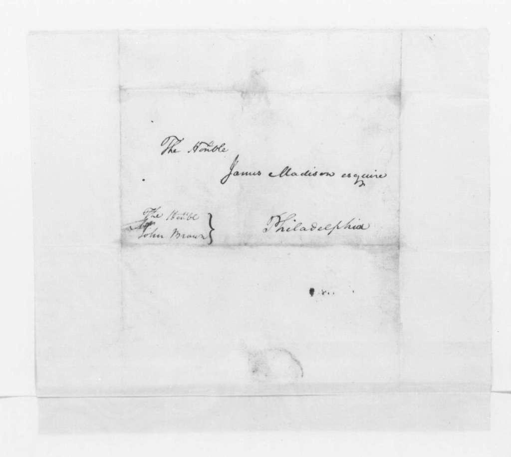 Hubbard Taylor to James Madison, November 14, 1796.