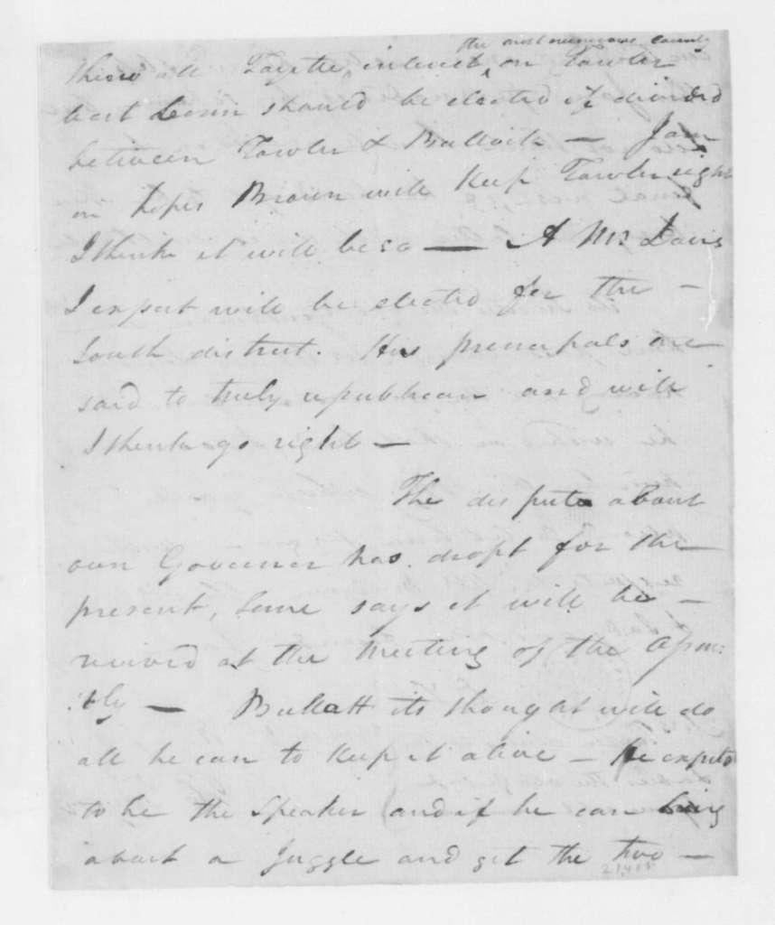 Hubbard Taylor to James Madison, September 12, 1796.