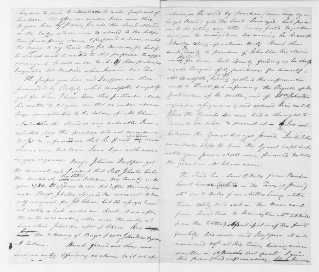 Hubbard Taylor to James Madison Sr., June 14, 1796.