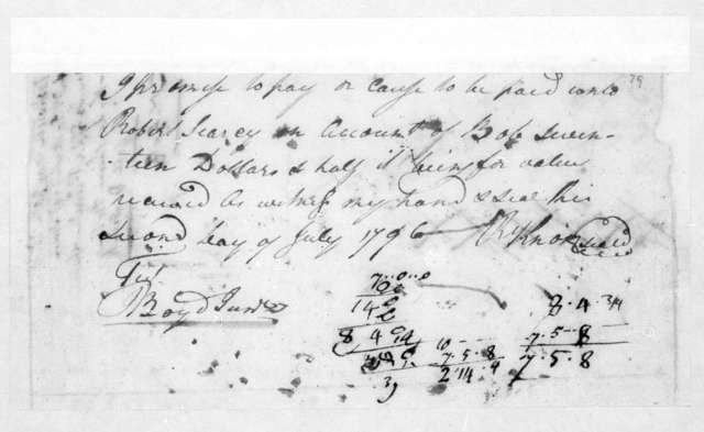J. & George Michael Deaderick to Robert Searcy, July 2, 1796