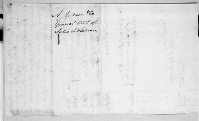 Jackson Andrew & Co, April 26, 1796