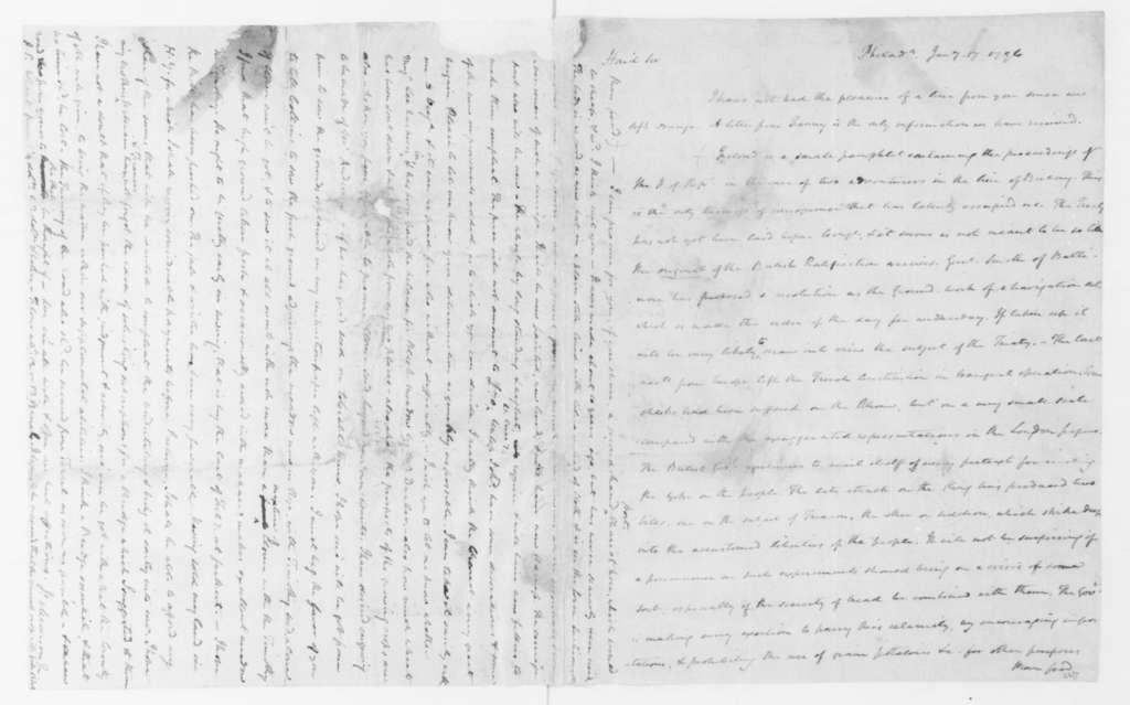 James Madison to James Madison Sr., January 17, 1796.