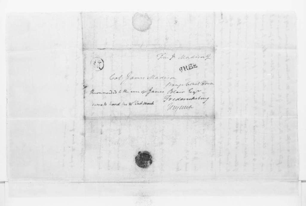 James Madison to James Madison Sr., March 13, 1796.