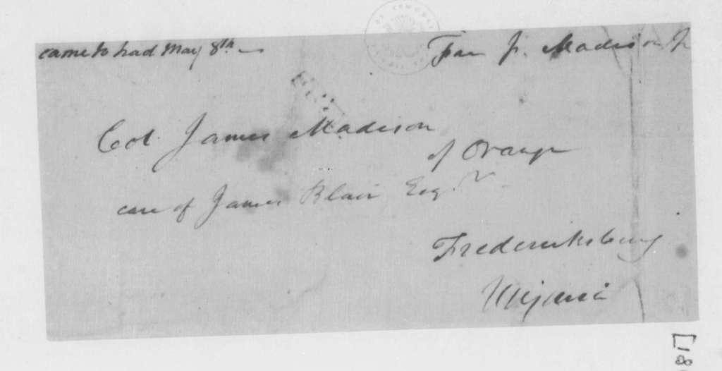 James Madison to James Madison Sr., May 1, 1796.