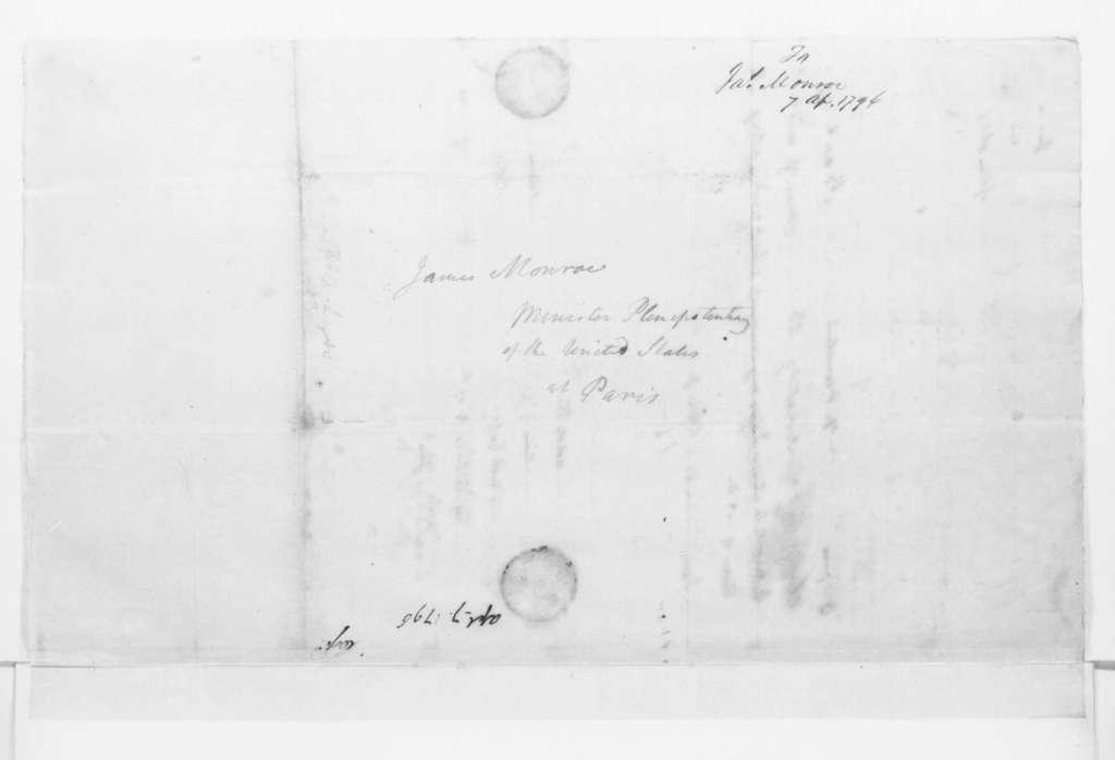 James Madison to James Monroe, April 7, 1796.