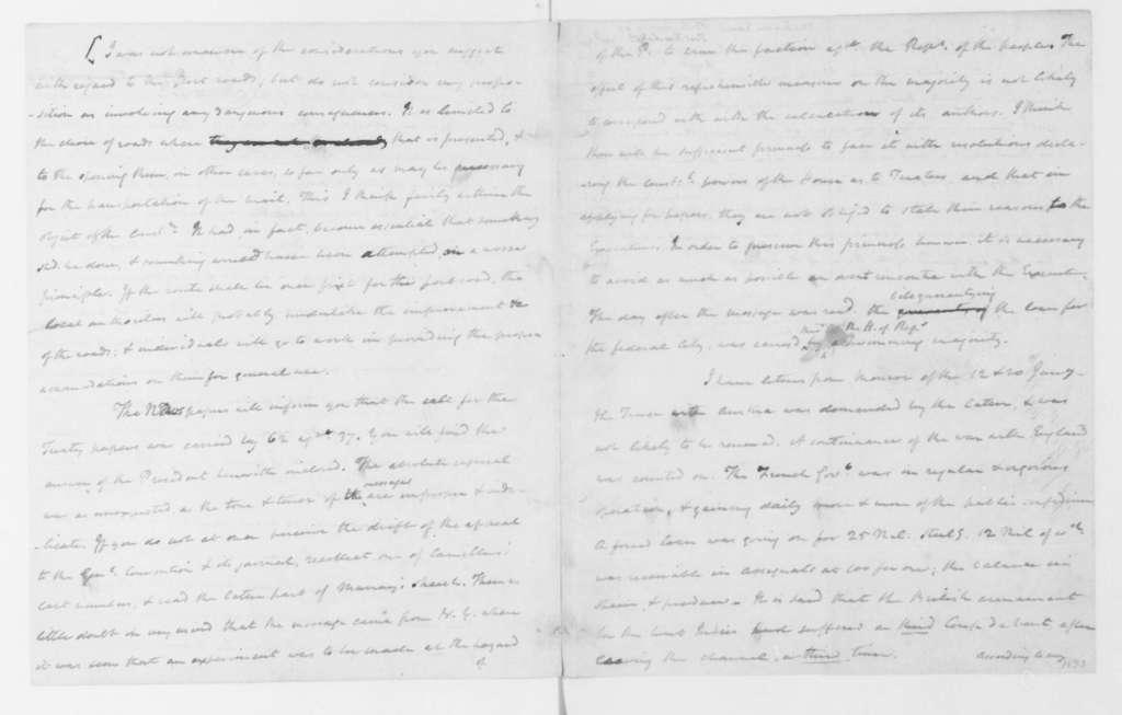 James Madison to Thomas Jefferson, April 4, 1796.