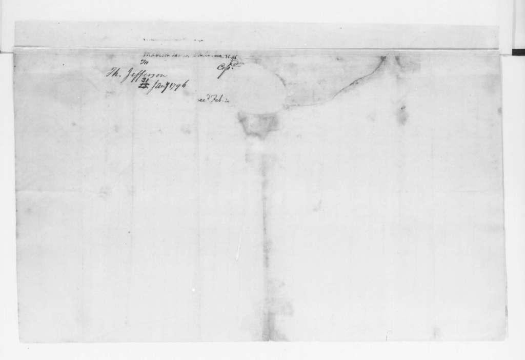 James Madison to Thomas Jefferson, January 31, 1796.