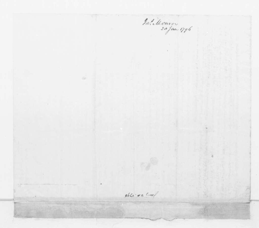 James Monroe to James Madison, January 20, 1796.
