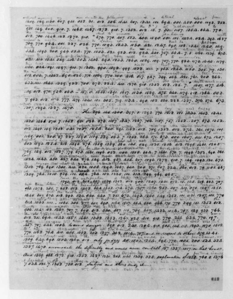 James Monroe to James Madison, July 5, 1796. In Cipher. Includes July 25, 1796 Postscript.