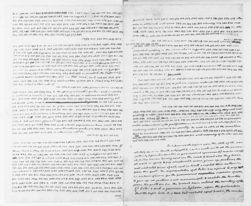 James Monroe to James Madison, July 5, 1796. Part Cipher-includes July 13, 2003 post script, July 31 Copy.