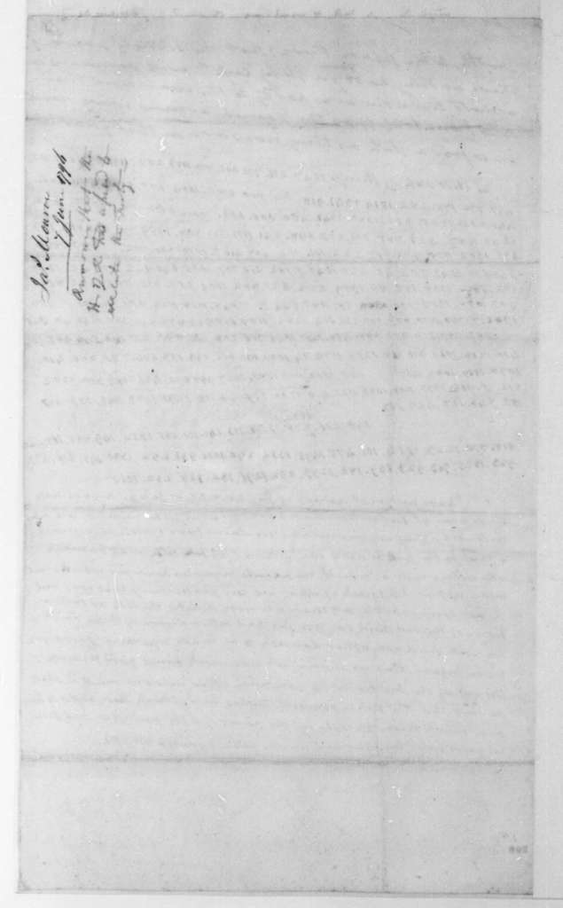 James Monroe to James Madison, June 7, 1796. Partly in cipher.