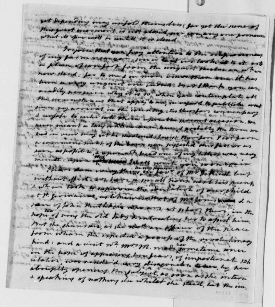 James Monroe to Thomas Jefferson, July 30, 1796