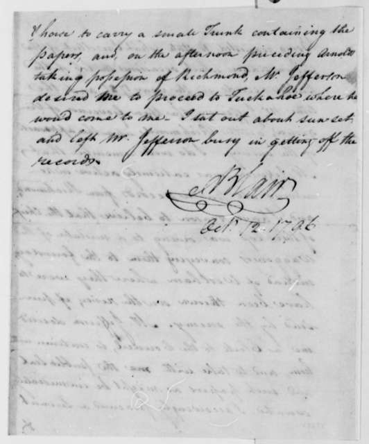 John Blair, October 12, 1796, Deposition on Public Records