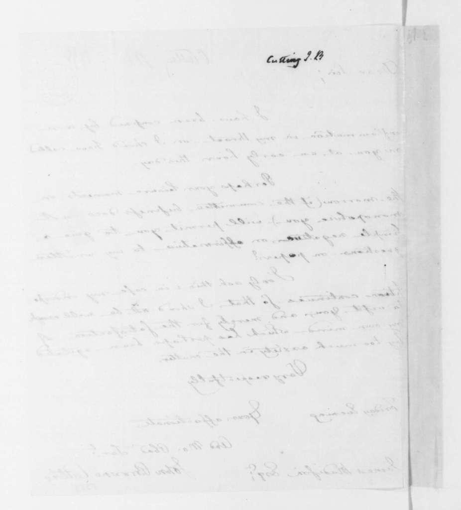John Browne Cutting to James Madison, February 05, 1796.